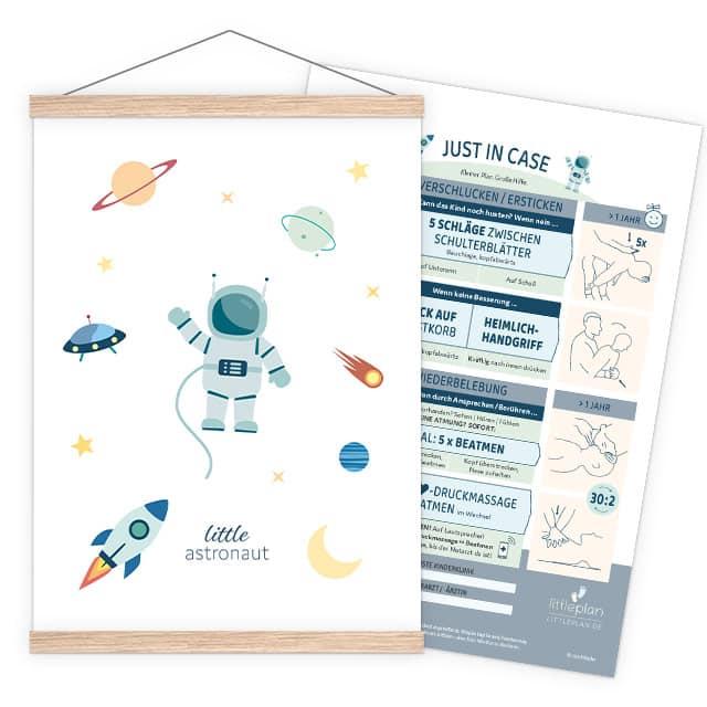 littleastronaut Erste-Hilfe-Poster